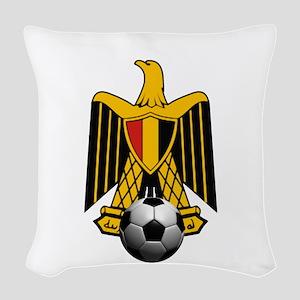 Egyptian Football Eagle Woven Throw Pillow
