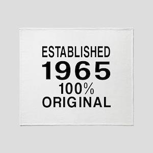Established 1965 Throw Blanket