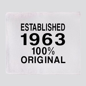 Established 1963 Throw Blanket