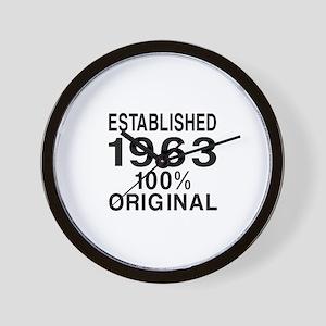 Established 1963 Wall Clock