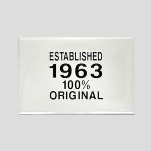 Established 1963 Rectangle Magnet