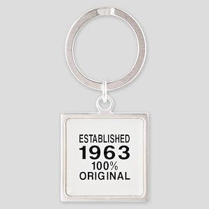 Established 1963 Square Keychain