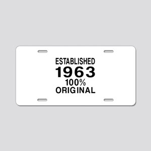 Established 1963 Aluminum License Plate