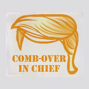 Comb-over In Chief Throw Blanket