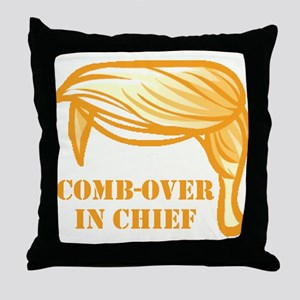 Comb-over In Chief Throw Pillow