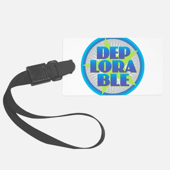 DEPLORABLE - Blue Green Gray Luggage Tag