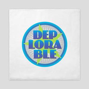DEPLORABLE - Blue Green Gray Queen Duvet