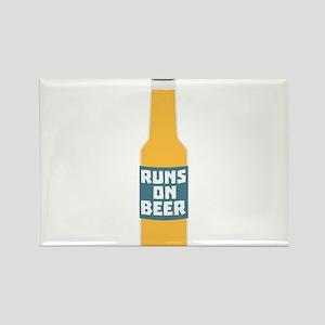 Runs on Beer Bottle Ccy3l Magnets