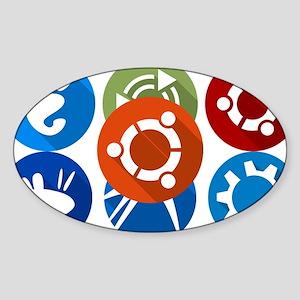 ubuntu distros Sticker
