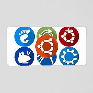 ubuntu distros Aluminum License Plate