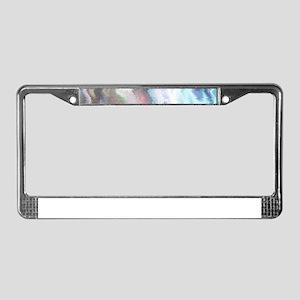 Vibrating Glitch Pastels License Plate Frame
