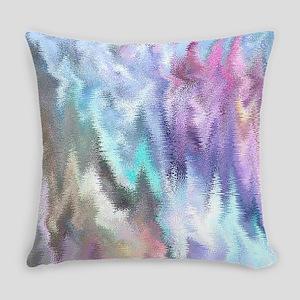 Vibrating Glitch Pastels Everyday Pillow