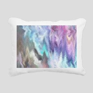 Vibrating Glitch Pastels Rectangular Canvas Pillow