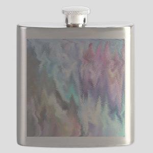 Vibrating Glitch Pastels Flask
