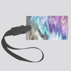 Vibrating Glitch Pastels Luggage Tag