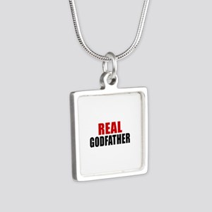 Real Godfather Silver Square Necklace