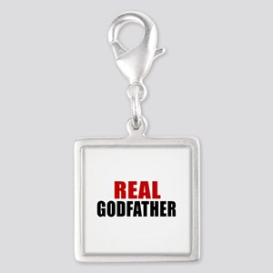 Real Godfather Silver Square Charm