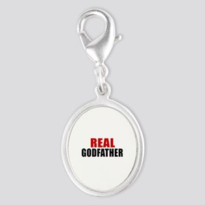 Real Godfather Silver Oval Charm