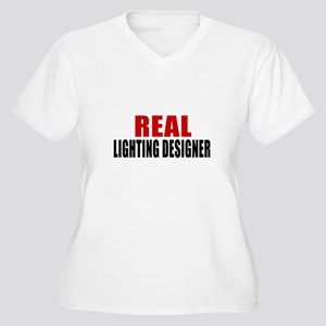 Real Lighting des Women's Plus Size V-Neck T-Shirt