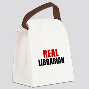Real Librarian Canvas Lunch Bag