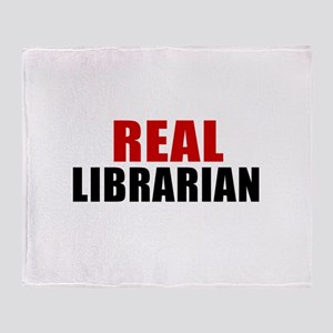 Real Librarian Throw Blanket