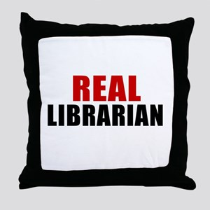 Real Librarian Throw Pillow