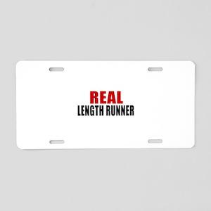 Real Length runner Aluminum License Plate