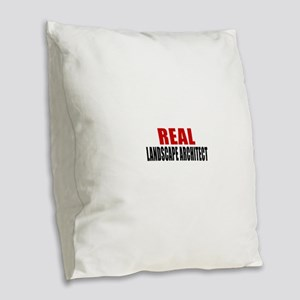 Real Landscape architect Burlap Throw Pillow