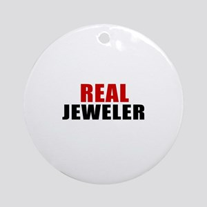 Real Jeweler Round Ornament