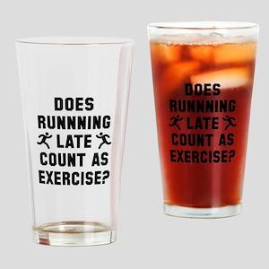 Running Late Drinking Glass