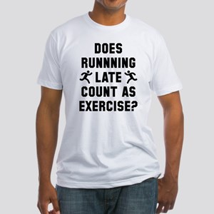 Running Late Fitted T-Shirt