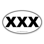 XXX Car Oval Sticker