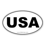 USA Car Oval Sticker