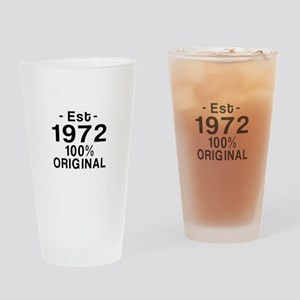 Est.Since 1972 Drinking Glass