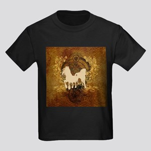 Running horses with wonderful floral elements T-Sh