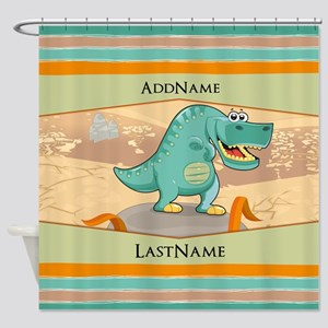 Dinosaur Personalized for Kids Shower Curtain