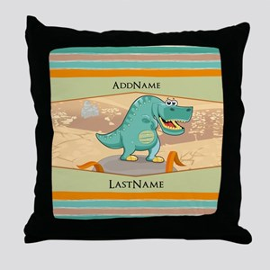 Dinosaur Personalized for Kids Throw Pillow