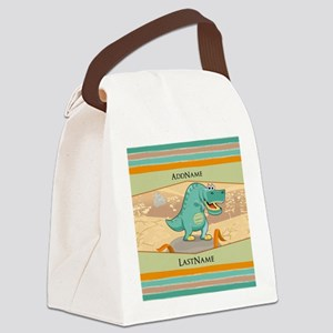 Dinosaur Personalized for Kids Canvas Lunch Bag