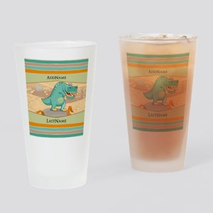 Dinosaur Personalized for Kids Drinking Glass