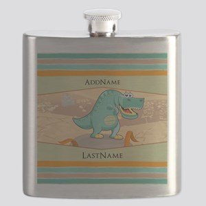 Dinosaur Personalized for Kids Flask