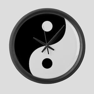 Yin And Yang Sides Large Wall Clock