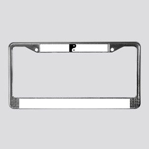 Yin And Yang Sides License Plate Frame