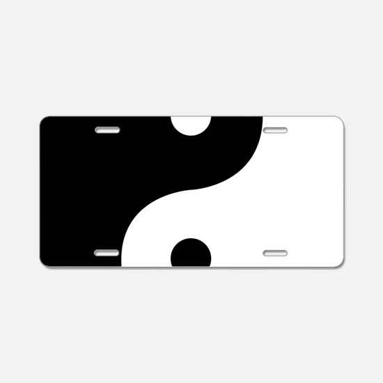 Yin And Yang Sides Aluminum License Plate