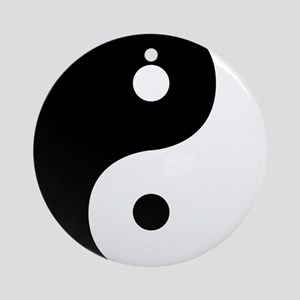 Yin And Yang Sides Round Ornament