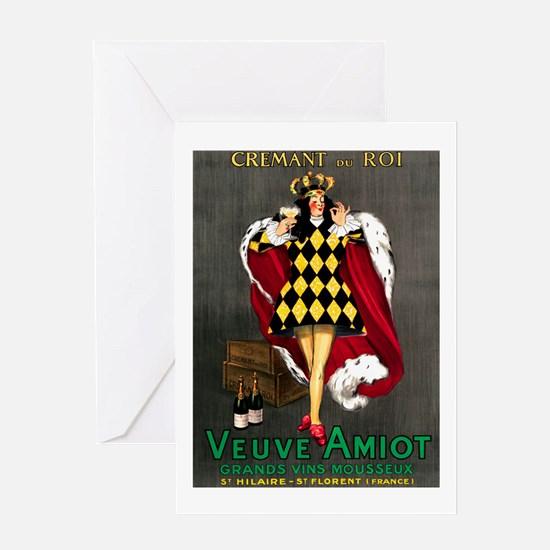 Vintage French Wine Poster Greeting Card