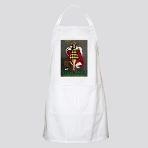 Vintage French Wine Poster BBQ Apron