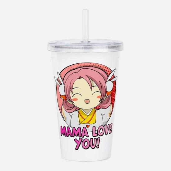 Mama Love You Cute Ani Acrylic Double-wall Tumbler