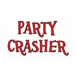Party Crasher 35x21 Wall Decal