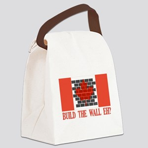Canadian Wall Canvas Lunch Bag