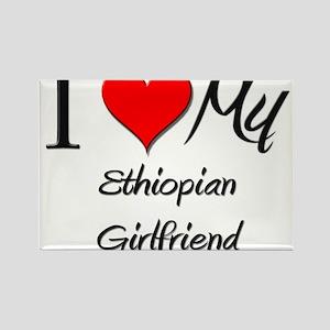 I Love My Ethiopian Girlfriend Rectangle Magnet